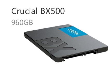 Crucial BX500新增960GB容量,满足玩家对大容量的需求